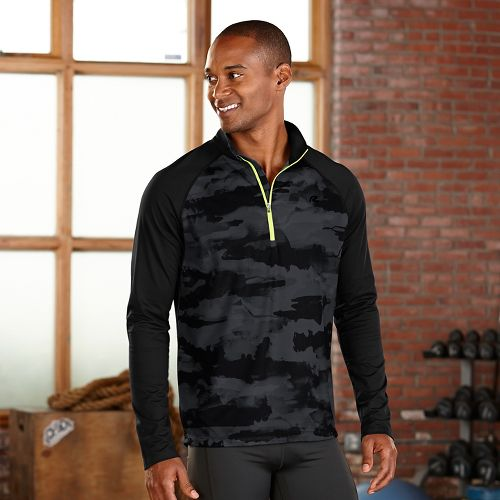 Mens R-Gear Out of Sight 1/2 Zip Long Sleeve Technical Tops - Black L
