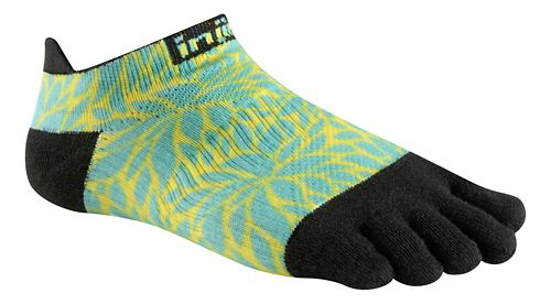 Womens Injinji RUN Lightweight No Show Spectrum Socks - Fern XS/S