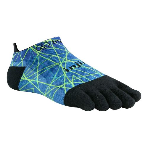 Injinji RUN Lightweight No Show Spectrum Socks - Ocean L