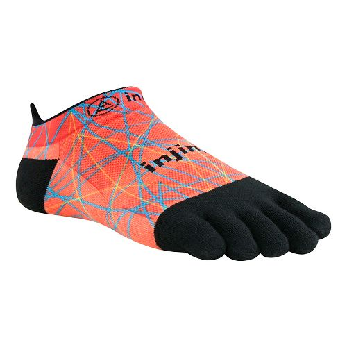 Injinji RUN Lightweight No Show Spectrum Socks - Volcano L