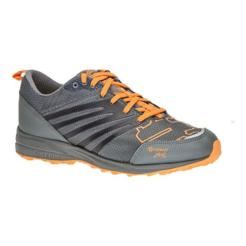 Mens Icebug Anima3 BUGrip Trail Running Shoe - Grey/Marigold 7.5