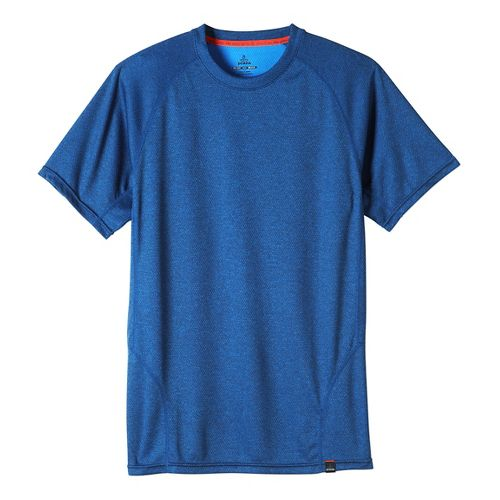 Mens prAna Orion Crew Short Sleeve Technical Tops - Blue Ridge L