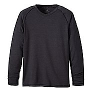 Mens prAna Breaker LS V-Neck Short Sleeve Technical Tops