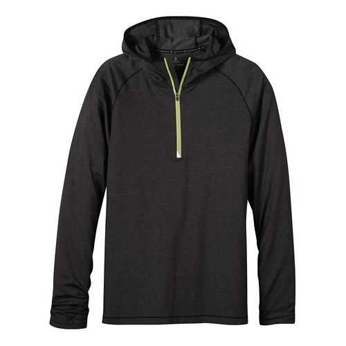 Mens prAna Breaker Hooded 1/4 Zip Hoodie & Sweatshirts Technical Tops - Black M