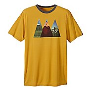 Mens prAna Summit Short Sleeve Technical Tops