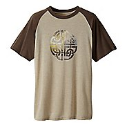 Mens prAna Interwoven Short Sleeve Technical Tops