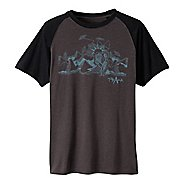 Mens prAna Desert Short Sleeve Technical Tops