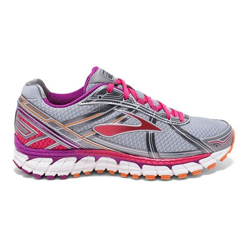 Womens Brooks Defyance 9 Running Shoe - Silver/Charcoal 7.5