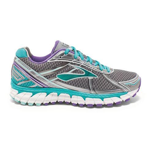 Womens Brooks Defyance 9 Running Shoe - Anthracite/Ceramic 5