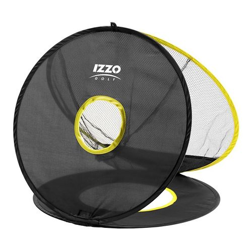 Izzo Golf Triple Chip Chipping Net Fitness Equipment - Black/Yellow