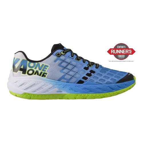 Mens Hoka One One Clayton Running Shoe - Blue/Green 12.5
