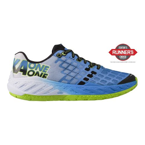 Mens Hoka One One Clayton Running Shoe - Blue/Green 7.5