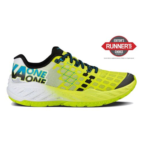 Mens Hoka One One Clayton Running Shoe - Citrus/White 10.5
