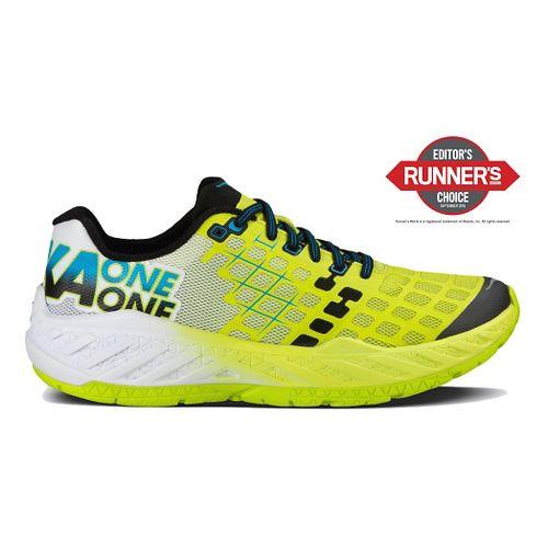 Mens Hoka One One Clayton Running Shoe - Citrus/White 7