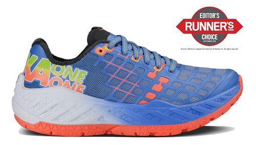 Womens Hoka One One Clayton Running Shoe - Ultra Marine/Coral 7