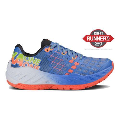 Womens Hoka One One Clayton Running Shoe - Green/Blue 5