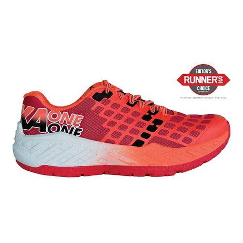 Womens Hoka One One Clayton Running Shoe - Teaberry/Neon Coral 5