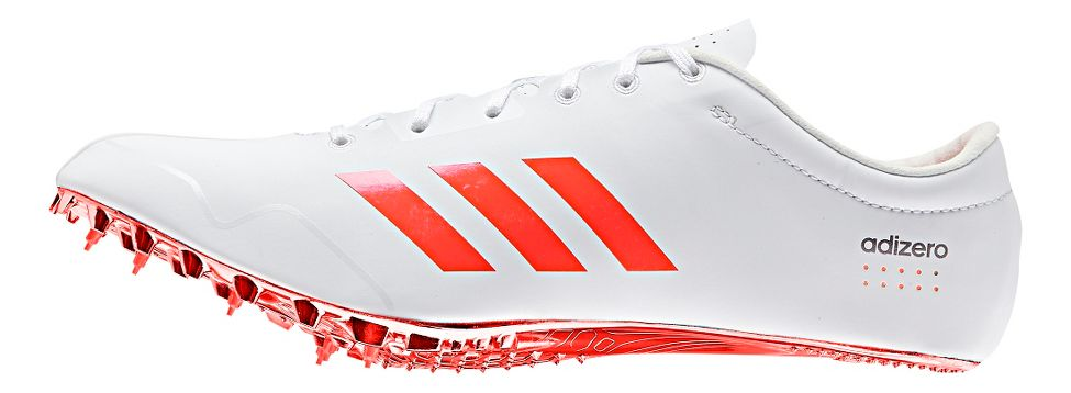 adidas® Adizero Prime SP :: Transfers power through the whole foot while reducing torque : Maximizes energy return. 2x as stiff as any other SPRINTPLATE. Laminate composite to lock the foot while maintaining a barefoot feel. Geometry : Maximum support and propulsion. 66% lighter steel pins : Conserve energy and reduce the braking forces.   This web exclusive item ships separately within the continental U.S. only. You can count on this item to ship in 3-5 business days!