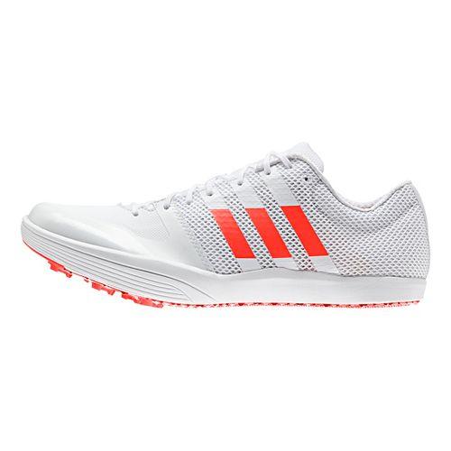 adidas Adizero LJ Racing Shoe - White/Red/Metallic 10