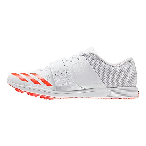 adidas Adizero TJ/PV Racing Shoe - White/Red/Metallic 10