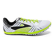 Brooks 3 ELMN8 Track and Field Shoe - White/Black 12.5