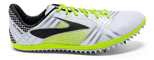 Brooks 3 ELMN8 Track and Field Shoe - White/Black 6.5