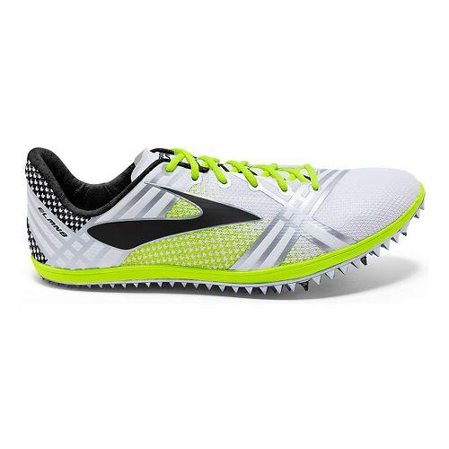 Brooks 3 ELMN8 Track and Field Shoe - White/Black 12