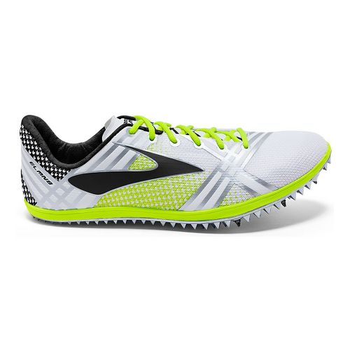 Brooks 3 ELMN8 Track and Field Shoe - White/Black 12.5
