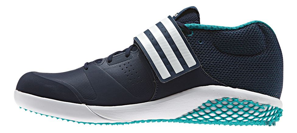 adidas® Adizero Javelin :: Provides additional support around the midfoot during the throwing motion. Secures the foot during throws. Allows for maximum comfort while increasing durability in high-tension areas. Stabilizes the foot. Give uncompromisable grip and reduced weight. Reduces pressure on the ankle and Achilles. Protection and durability.   This web exclusive item ships separately within the continental U.S. only. You can count on this item to ship in 3-5 business days!