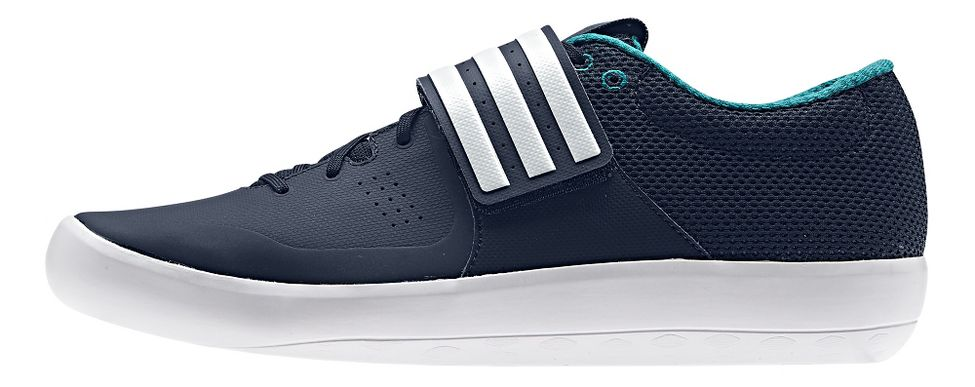 adidas® Adizero Shotput :: Perforated : Breathability. Breathability and reduced weight. Locks foot down while spinning. Balance between grip and slide.   This web exclusive item ships separately within the continental U.S. only. You can count on this item to ship in 3-5 business days!
