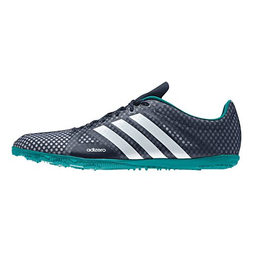 Mens adidas Adizero Ambition 3 Track and Field Shoe - Navy/Green 8.5