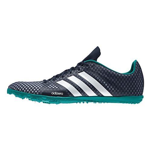 Womens adidas Adizero Ambition 3 Track and Field Shoe - Navy/Green 8