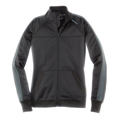 Womens Brooks Rally Running Jackets - Black/Asphalt XXL