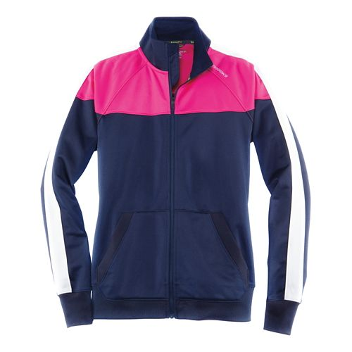 Womens Brooks Rally Running Jackets - Navy/Bloom XS