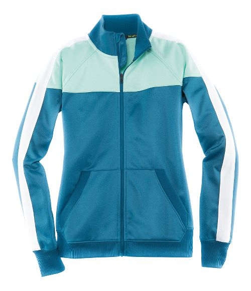 Womens Brooks Rally Running Jackets - River/Surf XXL
