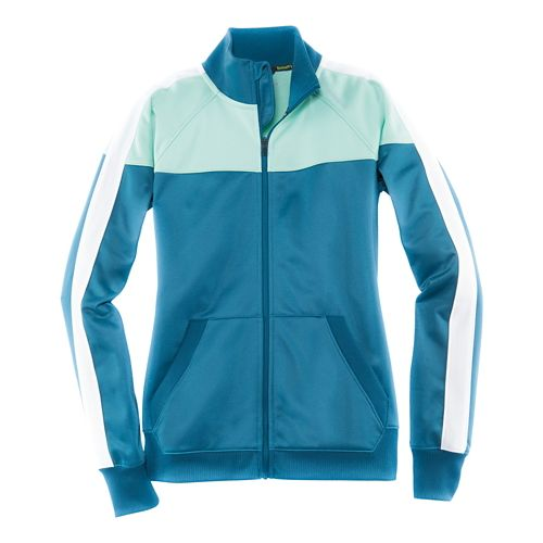 Womens Brooks Rally Running Jackets - River/Surf L