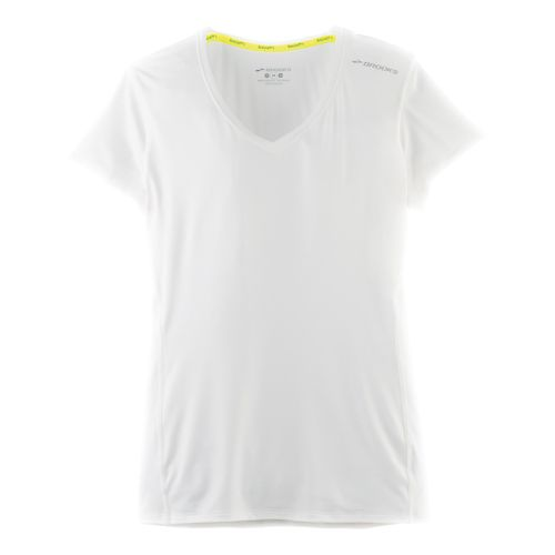 Womens Brooks Steady Short Sleeve Technical Tops - White L