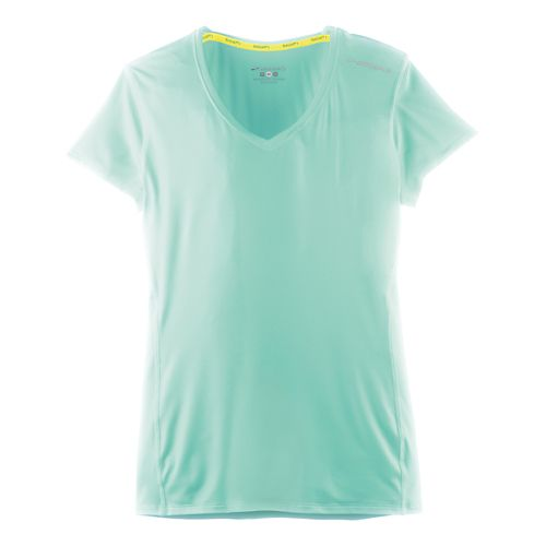 Womens Brooks Steady Short Sleeve Technical Tops - Surf XL