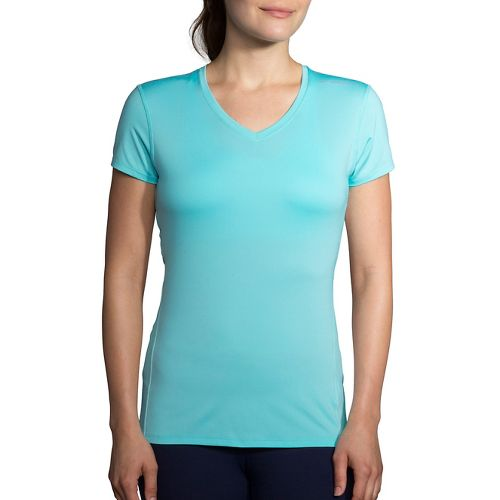 Womens Brooks Steady Short Sleeve Technical Tops - Mirage L