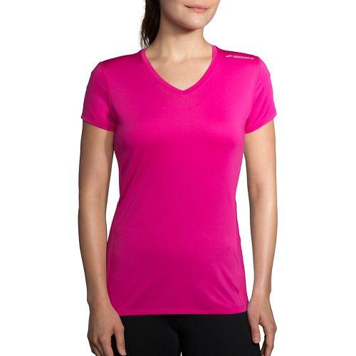 Womens Brooks Steady Short Sleeve Technical Tops - Petal XL