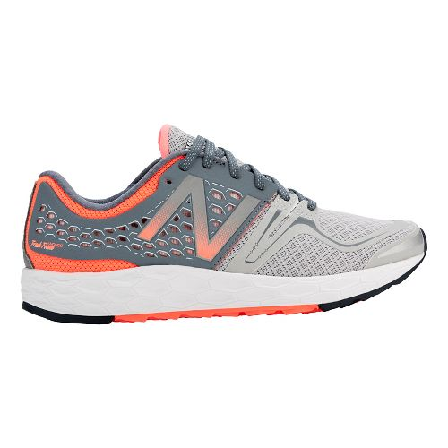 Womens New Balance Fresh Foam Vongo Running Shoe - Silver/Pink 9