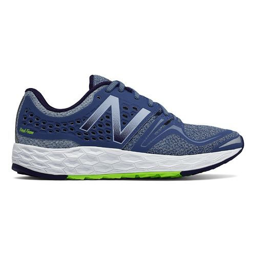 Womens New Balance Fresh Foam Vongo Running Shoe - Blue/Lime 10.5