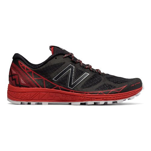 Mens New Balance Vazee Summit Trail Running Shoe - Black/Red 9.5