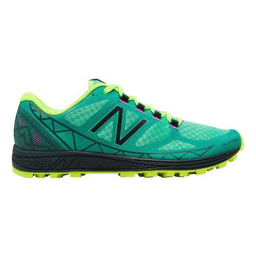 Womens New Balance Vazee Summit Trail Running Shoe - Aqua/Yellow 5.5