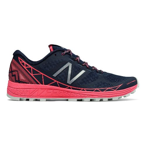 Womens New Balance Vazee Summit Trail Running Shoe - Navy/Pink 7.5