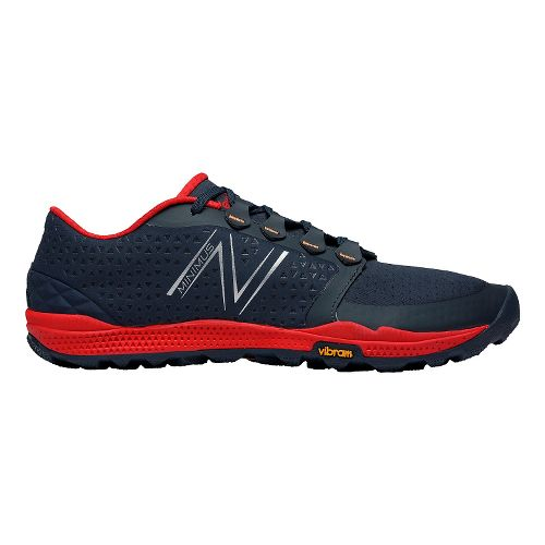 Mens New Balance Minimus 10v4 Trail Trail Running Shoe - Black/Red 11.5