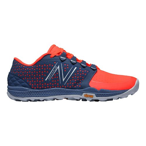 Womens New Balance Minimus 10v4 Trail Trail Running Shoe - Coral/Grey 10.5