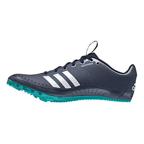 Womens adidas Sprintstar Track and Field Shoe - White/Green 7.5