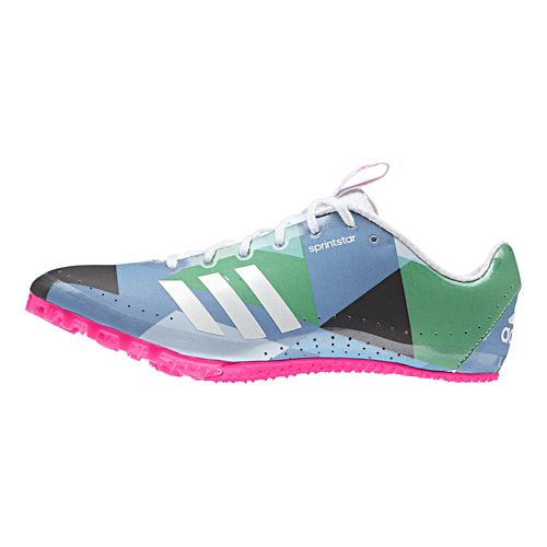 Womens adidas Sprintstar Track and Field Shoe - White/Shock Pink 9