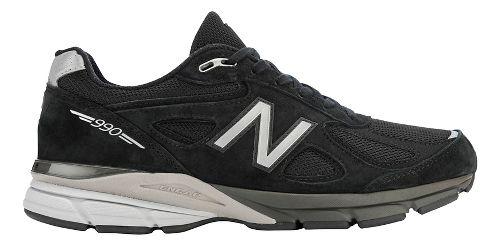 Mens New Balance 990v4 Running Shoe - Black/Silver 10.5